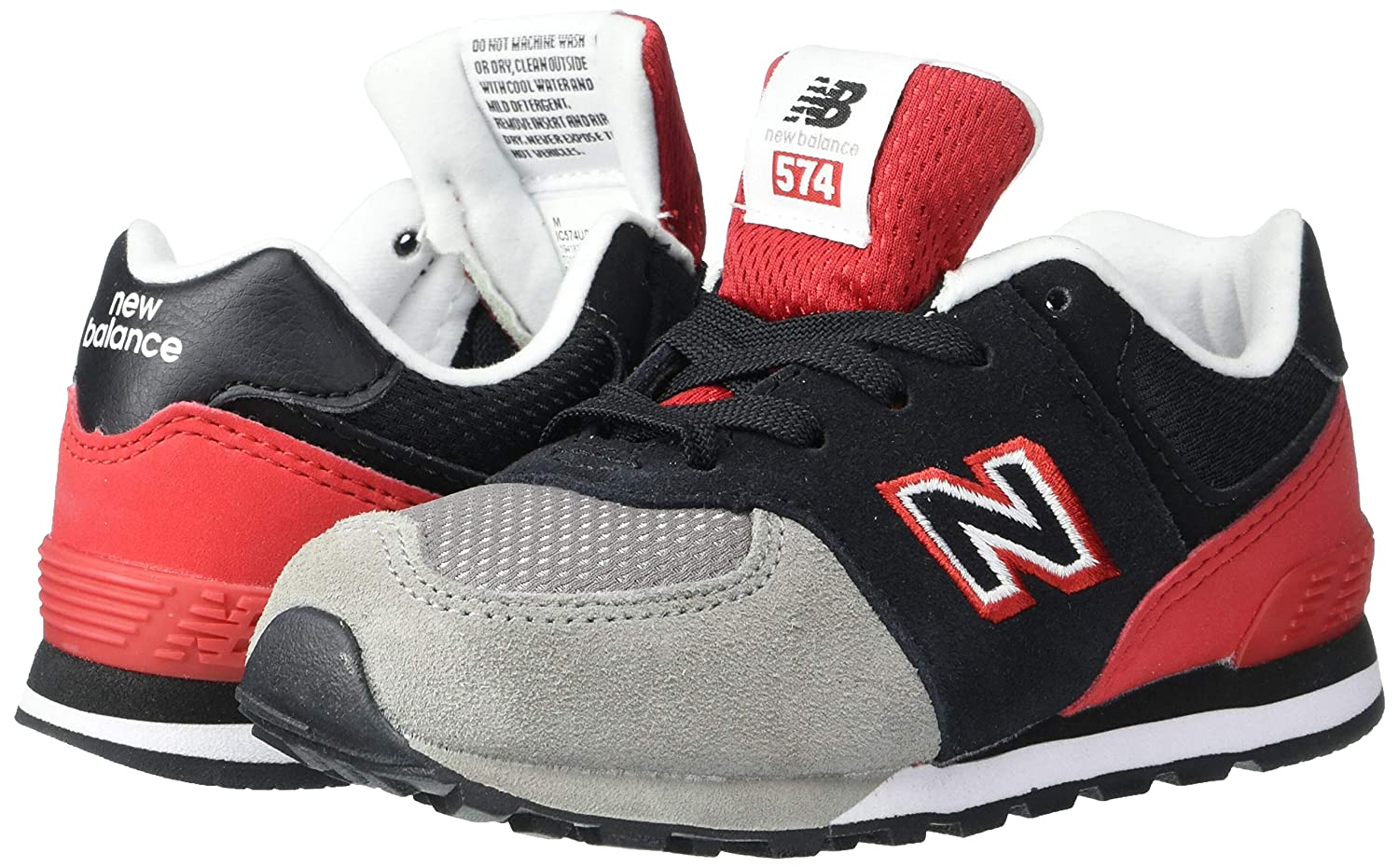 New Balance Kids 574v1 Lace-Up Sneakers