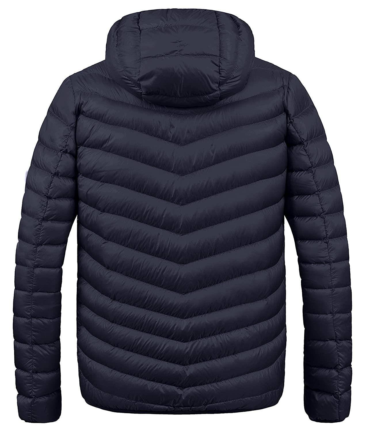 be5eb9df2 ZSHOW Men's Winter Hooded Packable Down Jacket