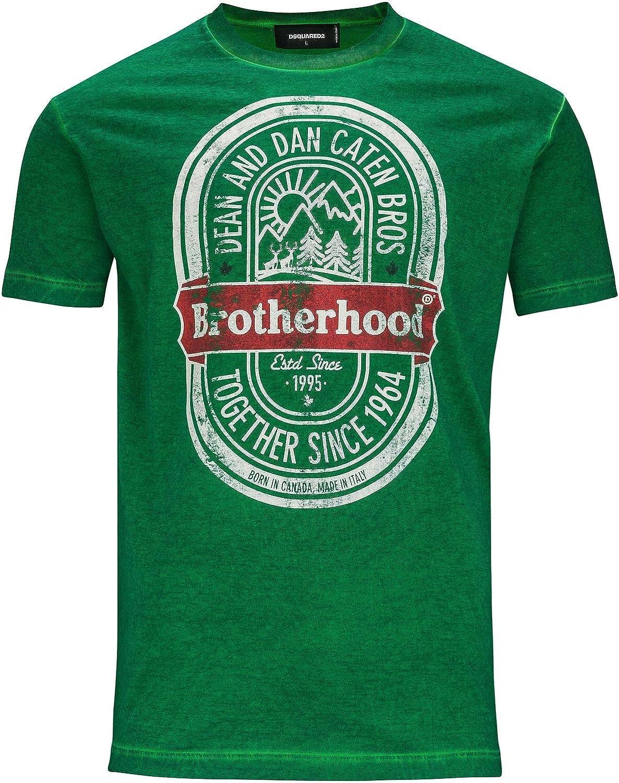 DSquared T-Shirt Hombre Small Verde: Amazon.es: Ropa y accesorios
