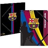 Chemise plastifiée 3 rabats Barça - Collection officielle FC BARCELONE - Rentrée scolaire Football Fc Barcelona - 24 x 32 cm