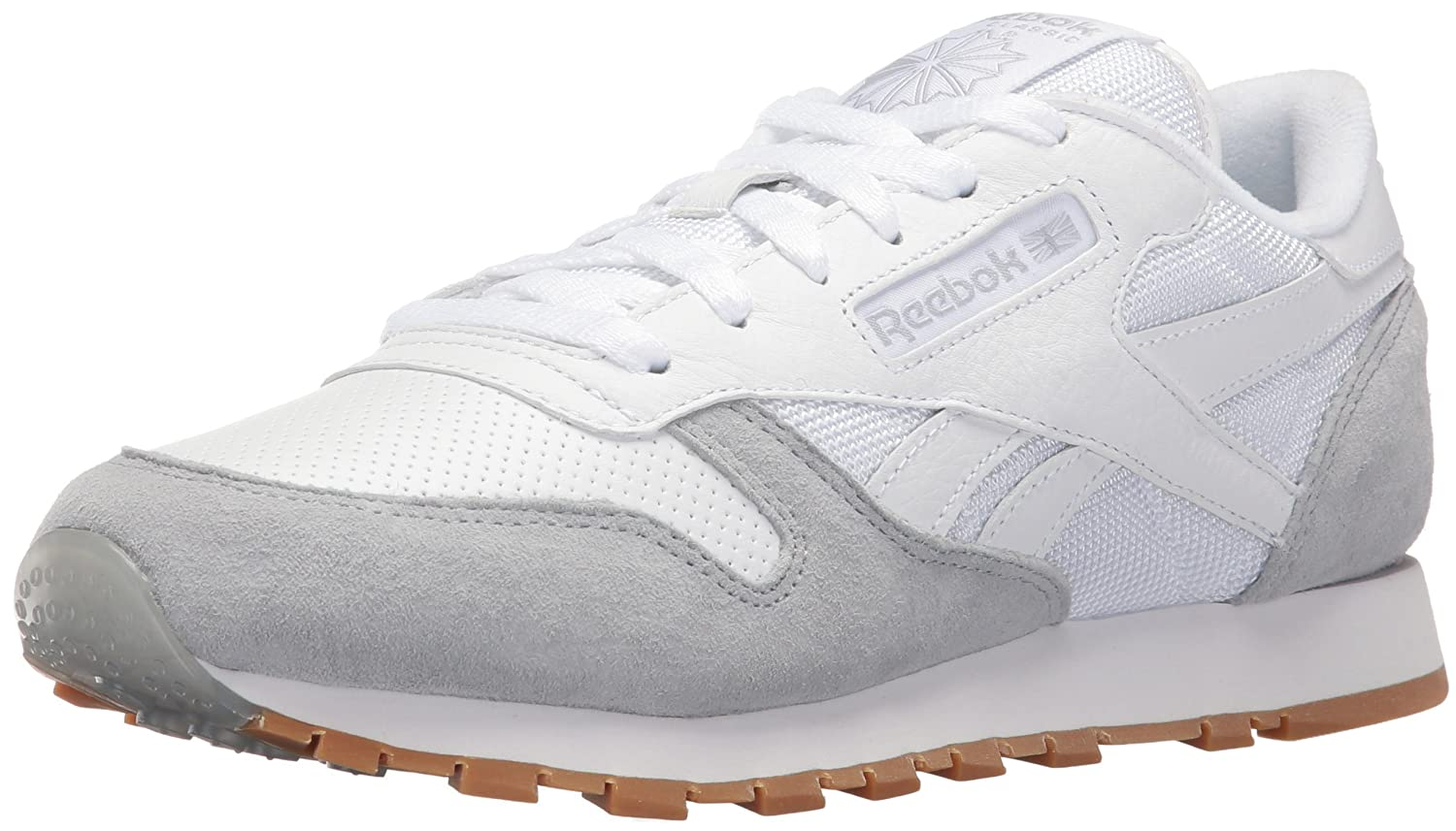 Reebok Women's CL Leather Spp Fashion Sneaker B01GEKX19Q 8.5 B(M) US|White/Cloud Grey/Black