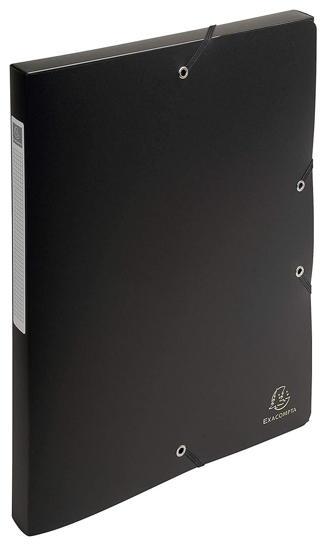 Exacompta 59681E color negro Carpeta de proyecto con goma