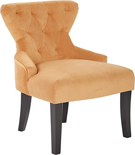 Cheap OSP Home Furnishings Curves Upholstered Hour Glass Accent Chair living room chair for sale