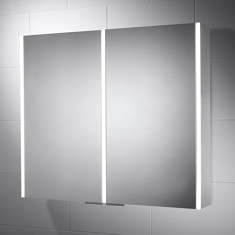 Pebble Grey Bathroom Cabinet - Nevada LED Illuminated Bathroom ...