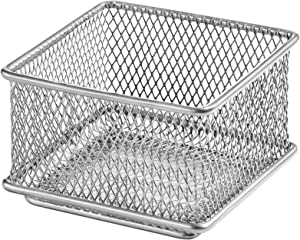 Ybm Home Silver Mesh Drawer Cabinet and or Shelf Organizer Bins, School Supply Holder Office Desktop Organizer Basket 1612s (1, 3x3x2 Inch)