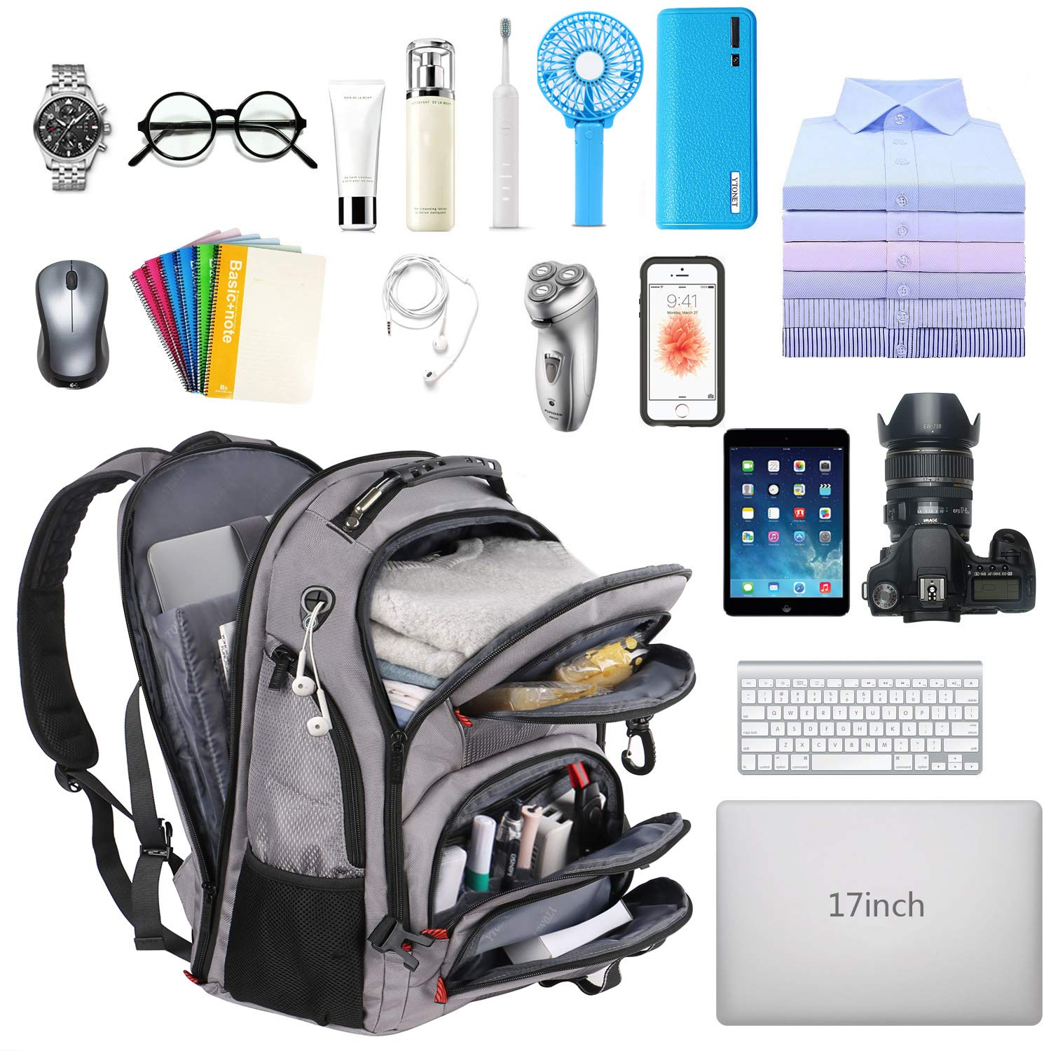Amazon.com: Laptop Backpack for Men, Extra Large Backpack with TSA Friendly & USB Charging Port for Travel Hiking School College, Big Anti-Theft Daypack ...