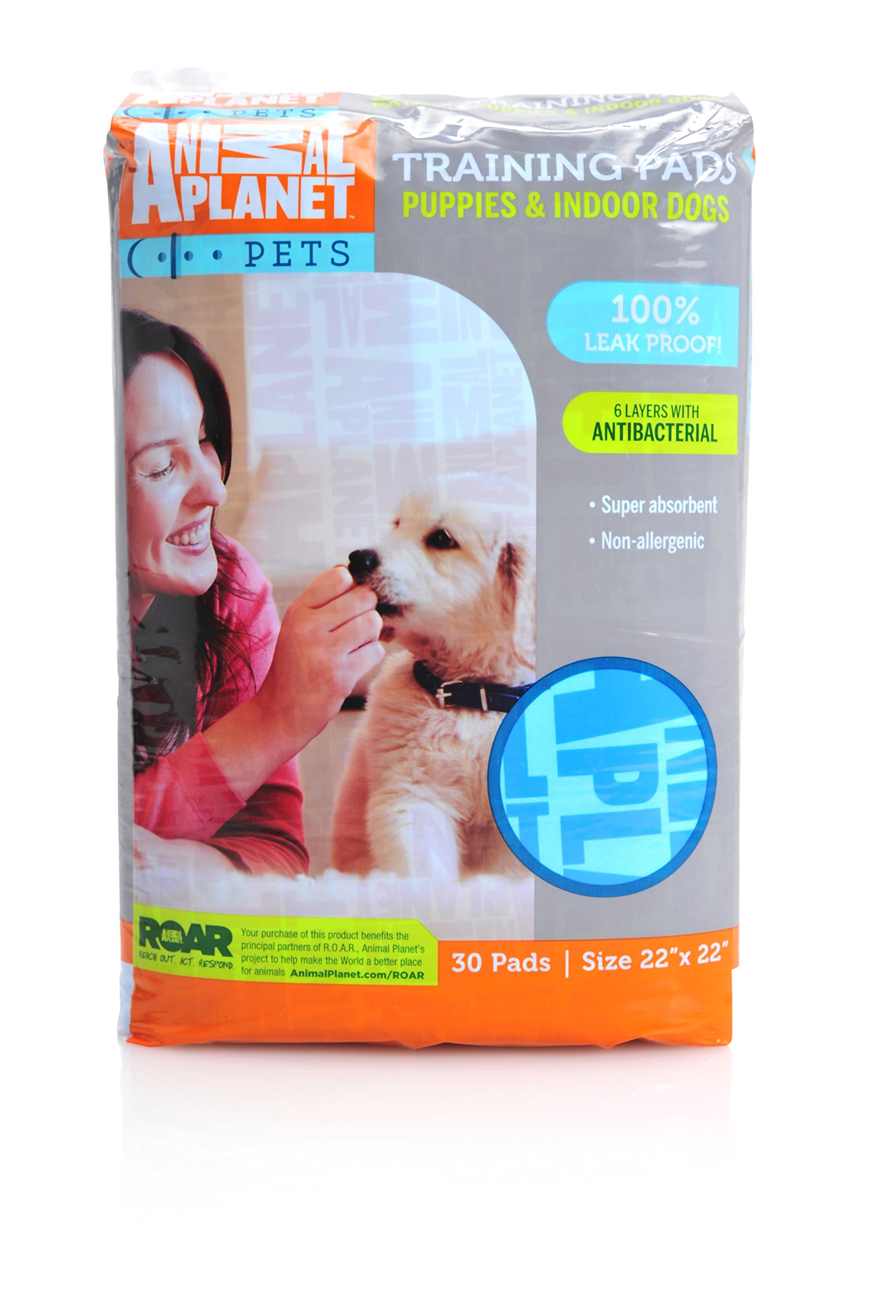 Animal Planet 23404 Indoor Puppy Training Pads, 22'' x 22'' by Animal Planet (Image #1)