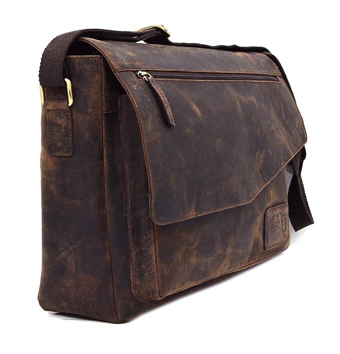 0a1b44cc56446 TUSC Triton Büffel Leder Tasche Laptoptasche 15  Amazon.de  Computer    Zubehör