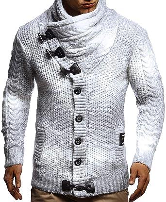 dbea7dd347524a LEIF NELSON Herren Strickjacke Pullover Hoodie Sweatshirt Longsleeve Winterjacke  Pulli Sweater Langarm LN5065N: Amazon.de: Bekleidung