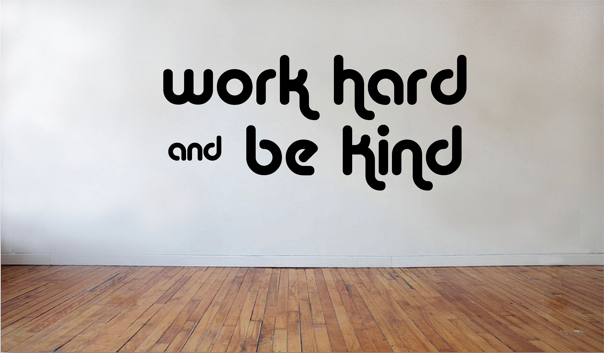 Blinggo Work Hard be Kind removable Vinyl Wall Decal Home Décor