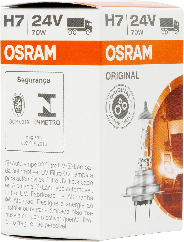 Osram O724 Lámpara Halogen Original 64215 PK26d 24V 70W H7 [1 Unidad]