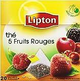 Lipton Thé 5 Fruits Rouges x20 Sachets 34g - Lot de 3