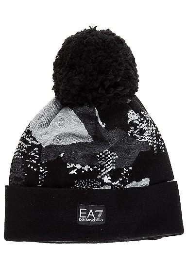 0460ae9f7 Emporio Armani EA7 men's beanie hat mount urban black UK size M ...