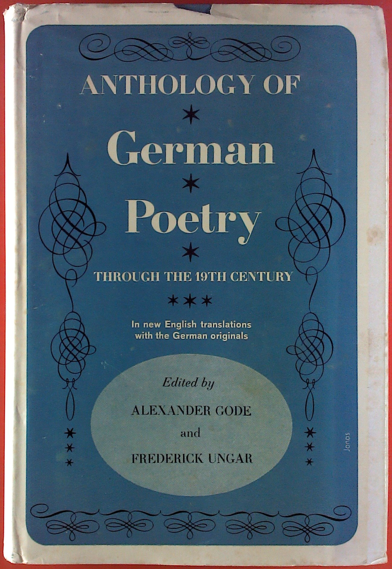 Anthology Of German Poetry Through The 19th Century Bilingual