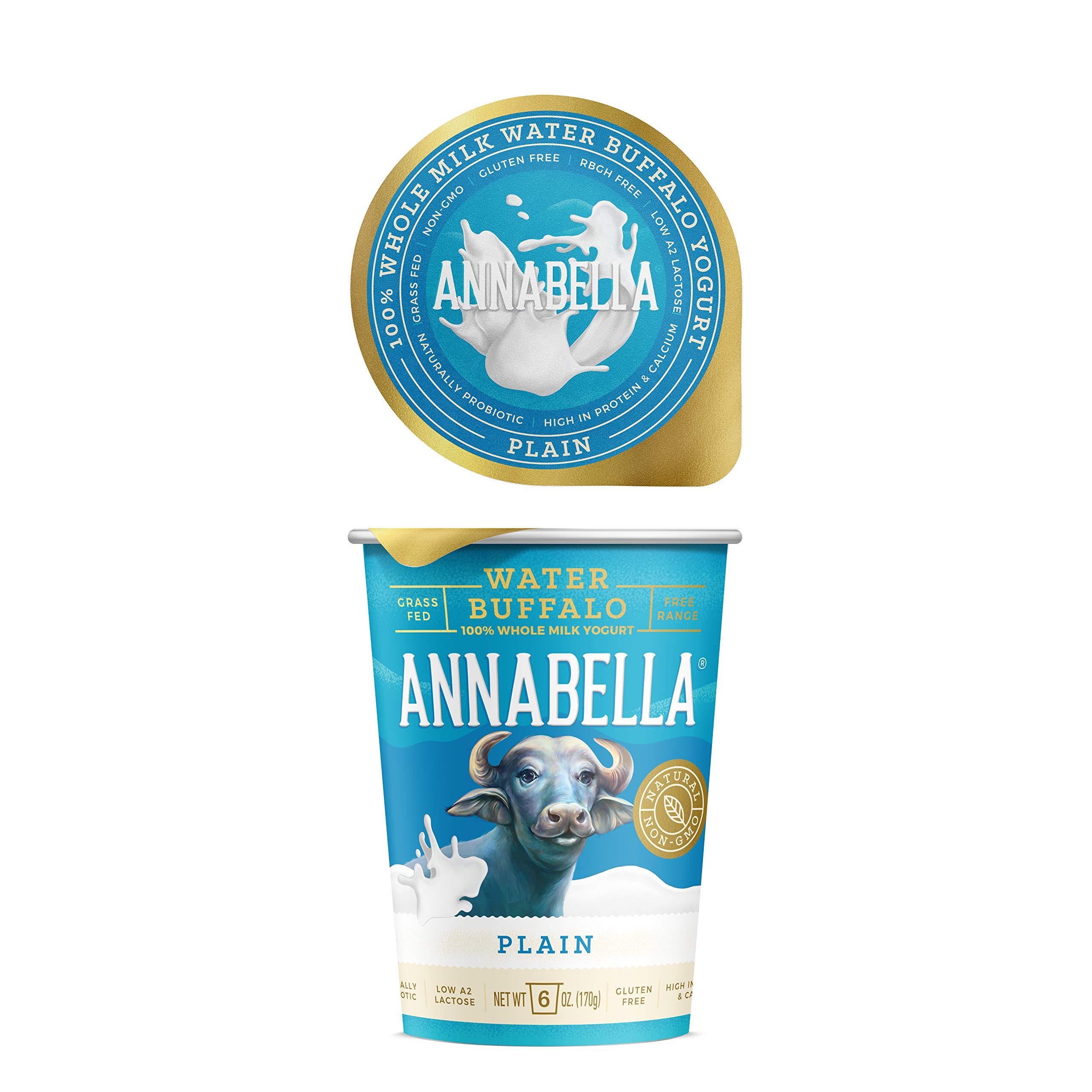 Annabella Water Buffalo Yogurt (Plain) / 6oz Cup-6 Cups per case