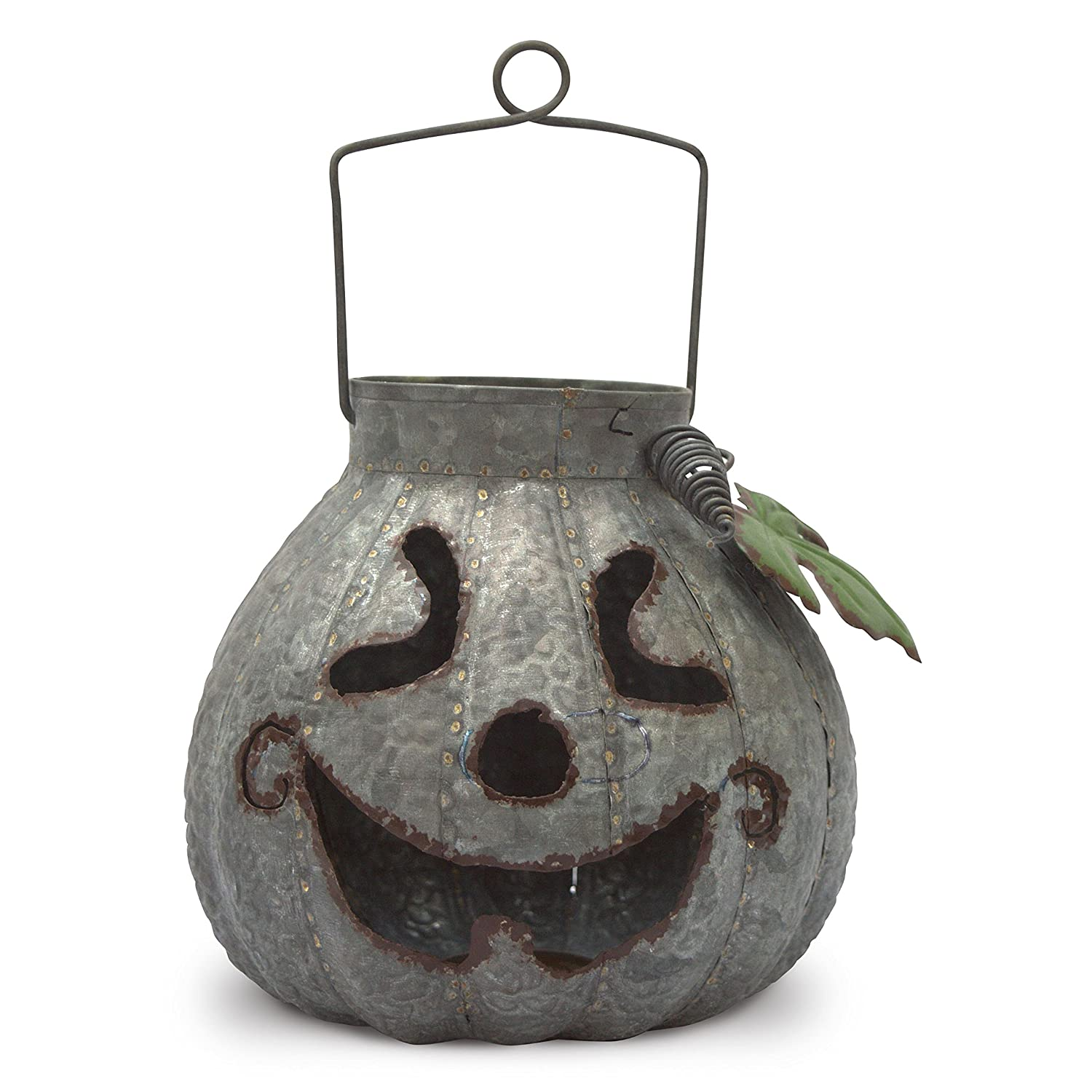 Halloween Lantern, Traditional Pumpkin Shape for Outdoor or Indoor Use Rustic Garden