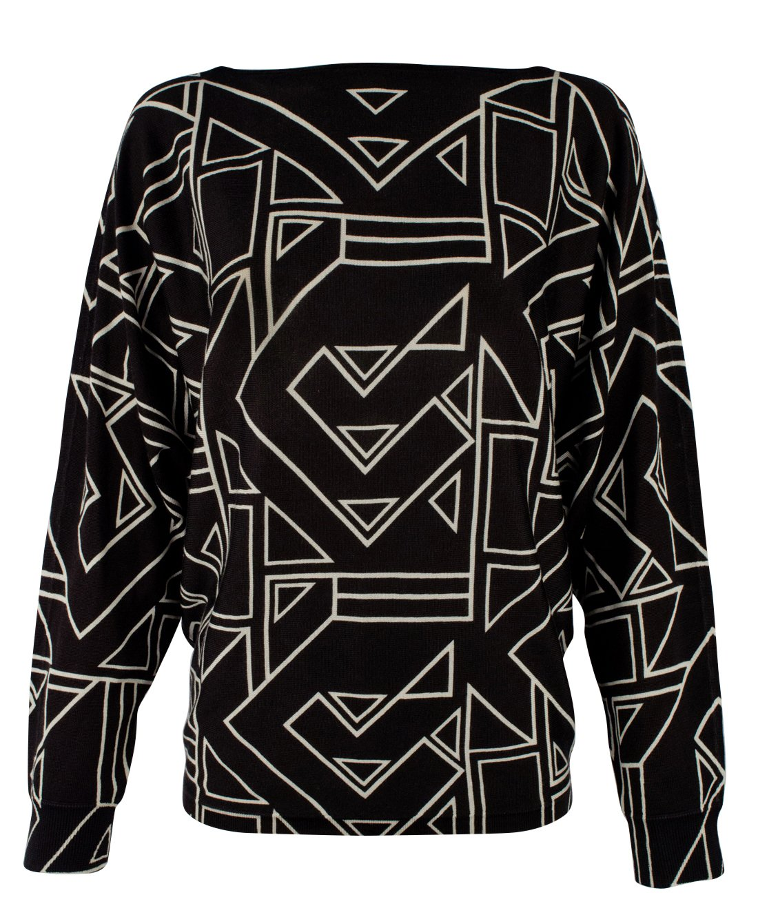 Lauren Ralph Lauren Women's Plus Size Geometric Print Sweater-BM-1X