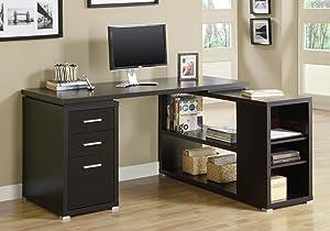 Monarch Specialties Computer Desk - Left or Right Facing Corner | Capuccino
