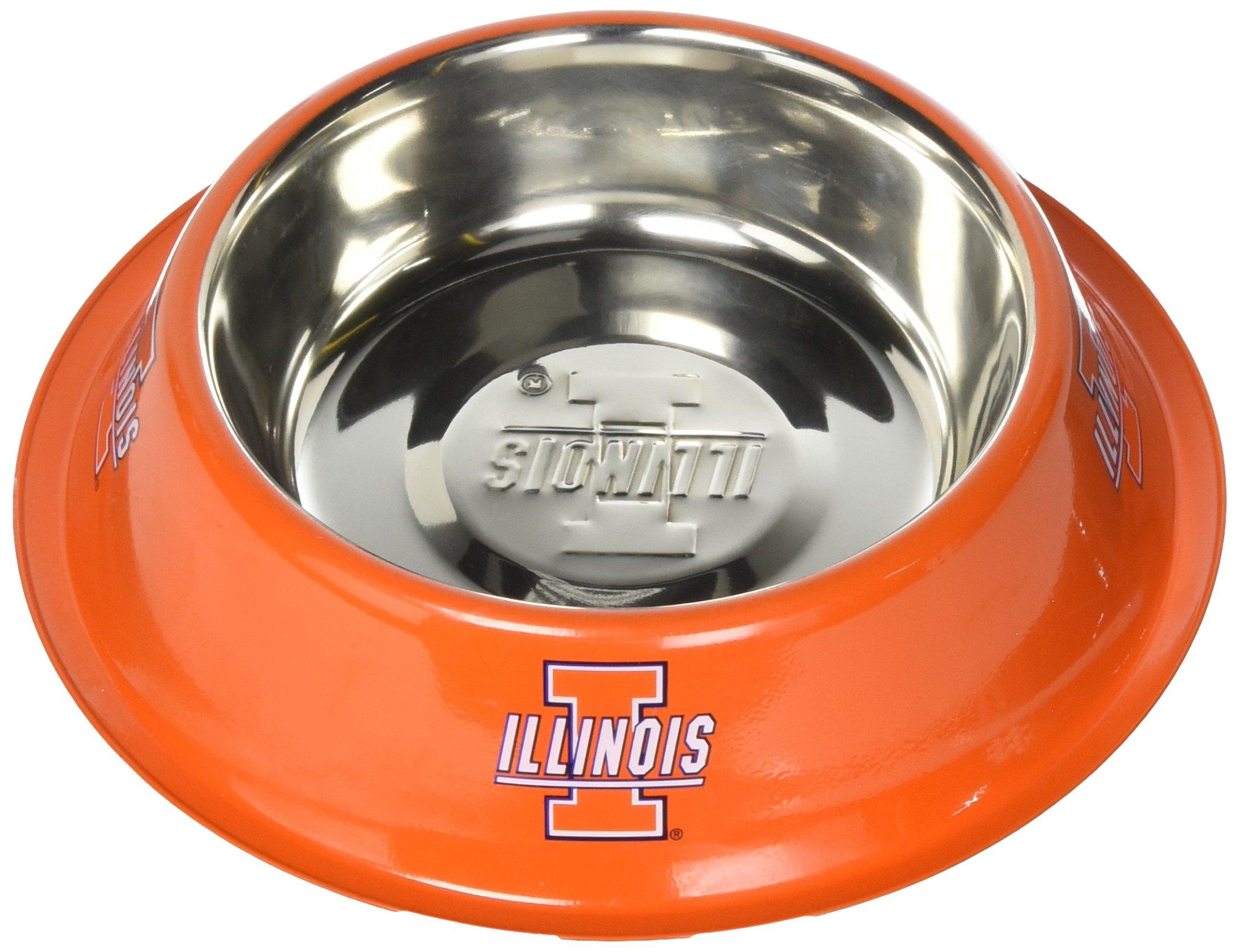 Pet Goods NCAA Illinois Illini Stainless Steel Bowl