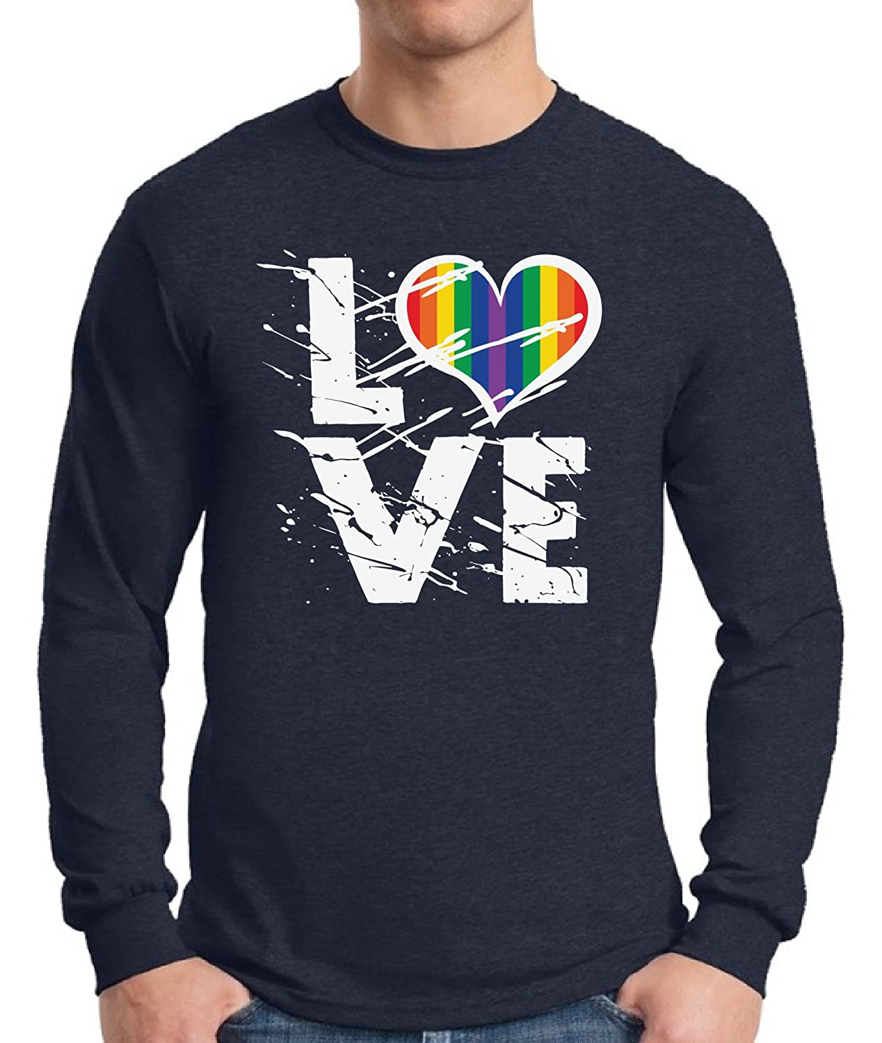 8e38080ca Tired of the shaggy comments? Strut around in this Awkward Styles Love Long  Sleeve T shirt Tee and spread the love for all the colors of the rainbow!