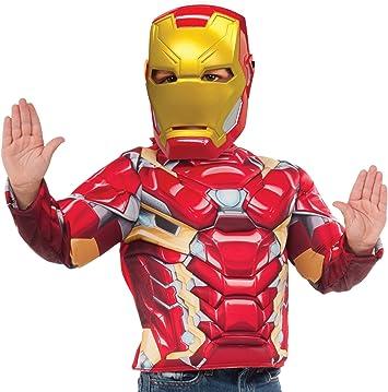 Avengers - Disfraz de Iron Man para niños, pecho musculoso y ...