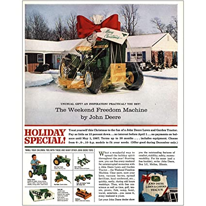 Weekend Freedom Machines >> Amazon Com Relicpaper 1966 John Deere Weekend Freedom