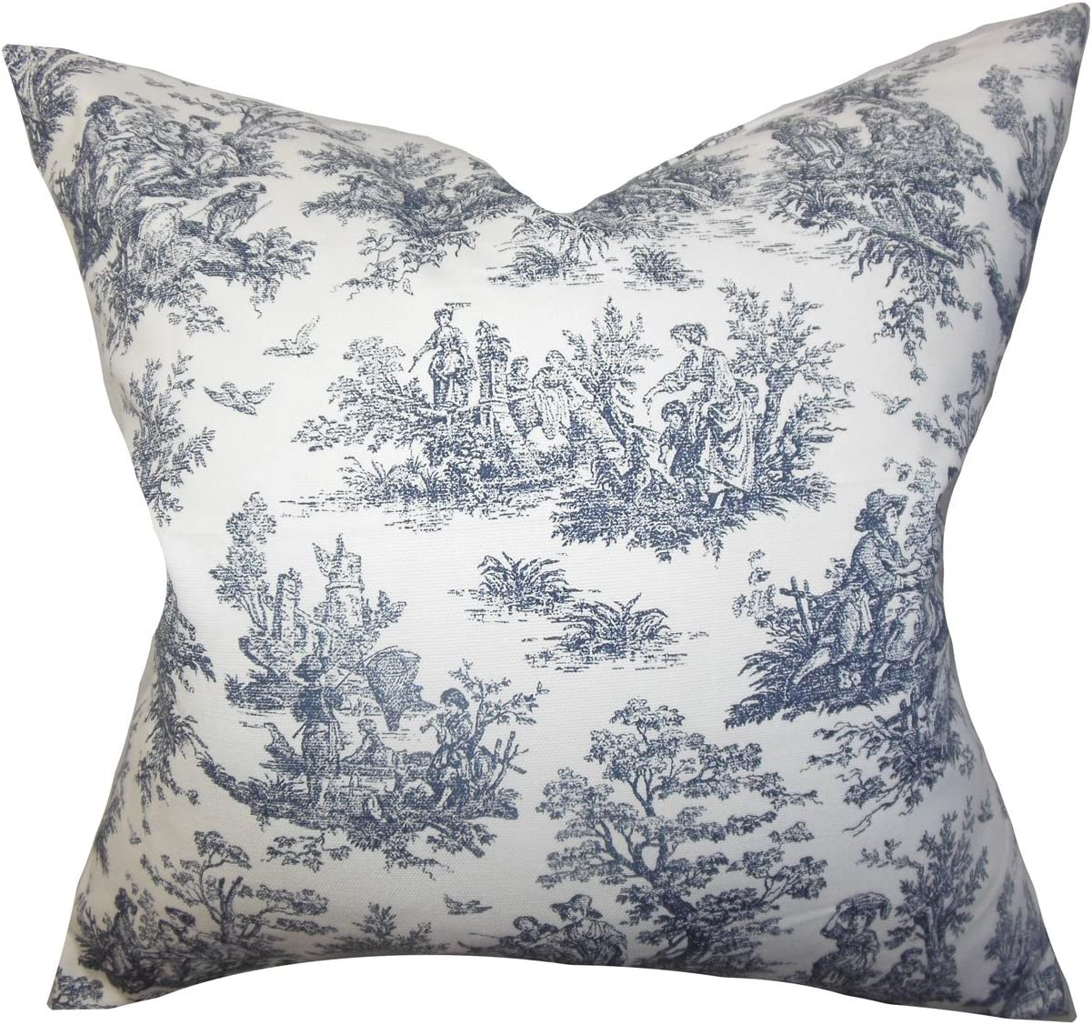 The Pillow Collection Evlia Toile Etoile Bedding Sham Blue Standard//20 x 26