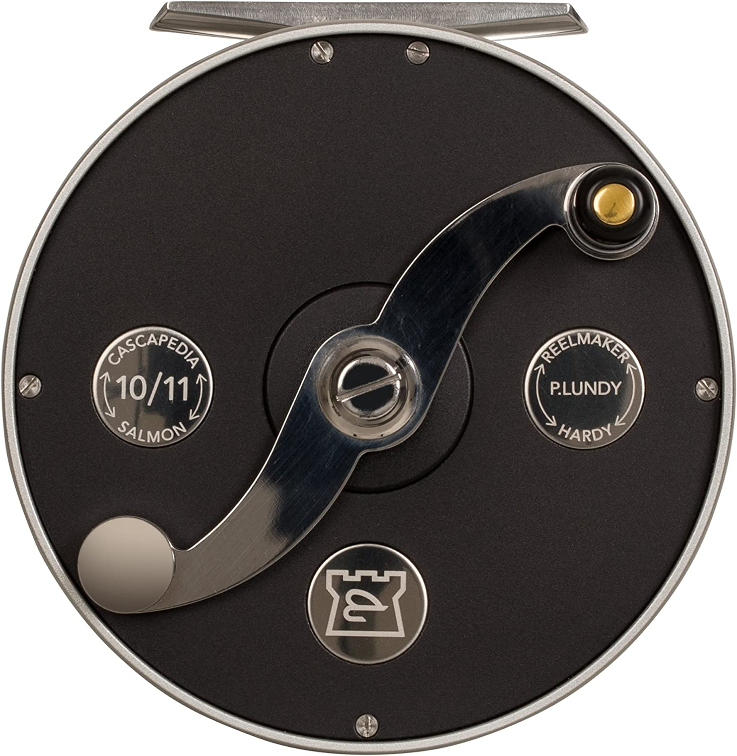 HARDY Cascapedia Fly Fishing Reel - Right/Left Reel Handle Position - Black/Silver