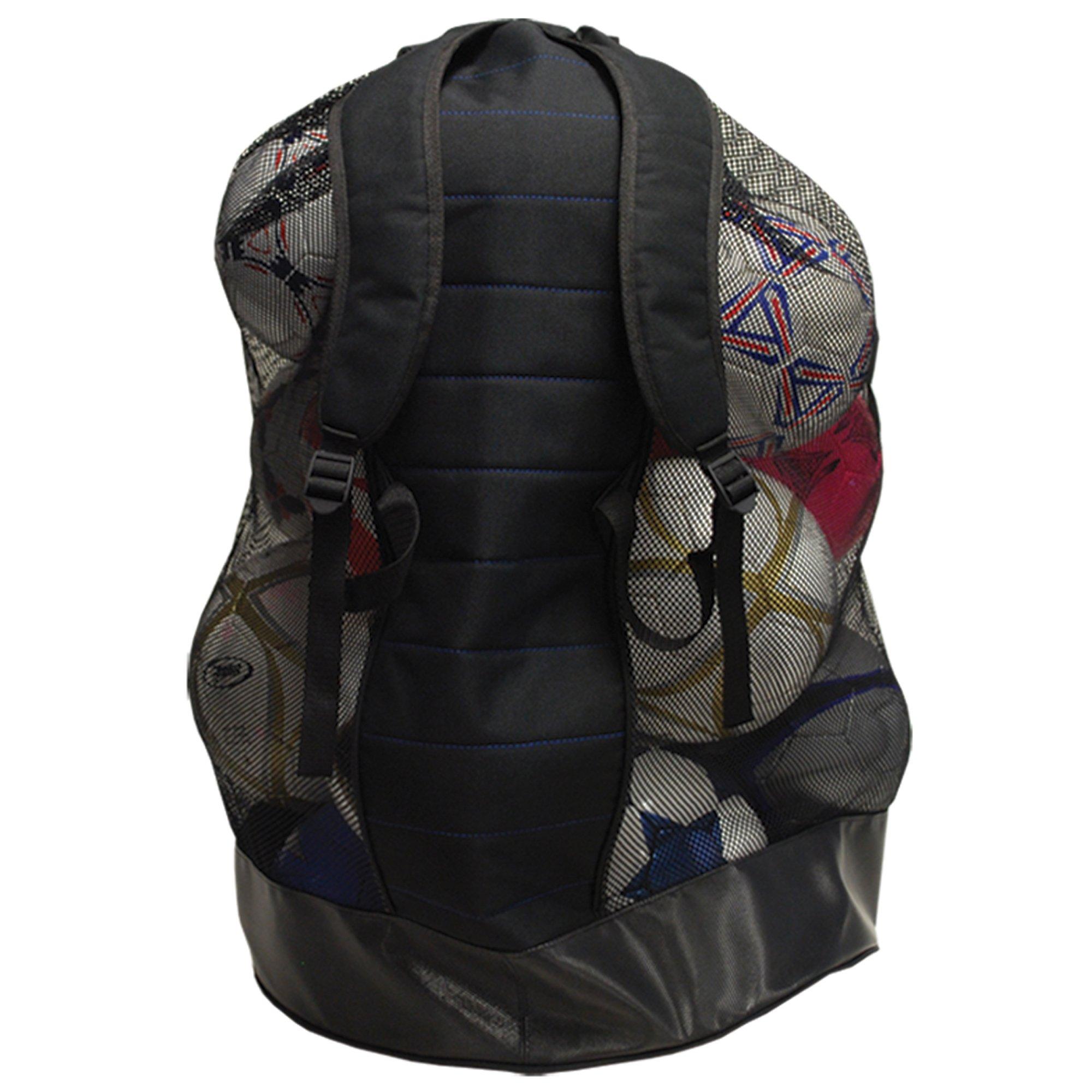 AGORA Heavy-Duty Soccer Ball Carrier Bag (12-15 Balls), Black by AGORA (Image #2)