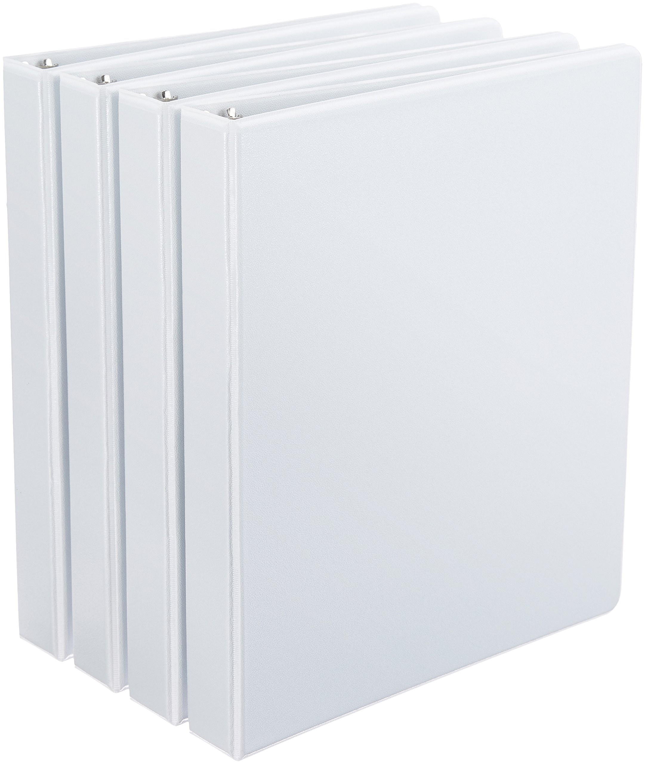 AmazonBasics D-Ring Binders - 1-Inch, 4-Pack