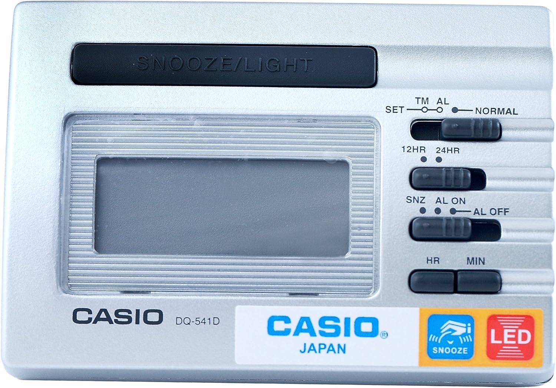CASIO 10110 DQ-541D-8R - Reloj Despertador Digital Gris