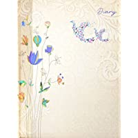 Crownlit Floral Design 2020 Diary, Hard Bond, Sunday Full, B5 Size