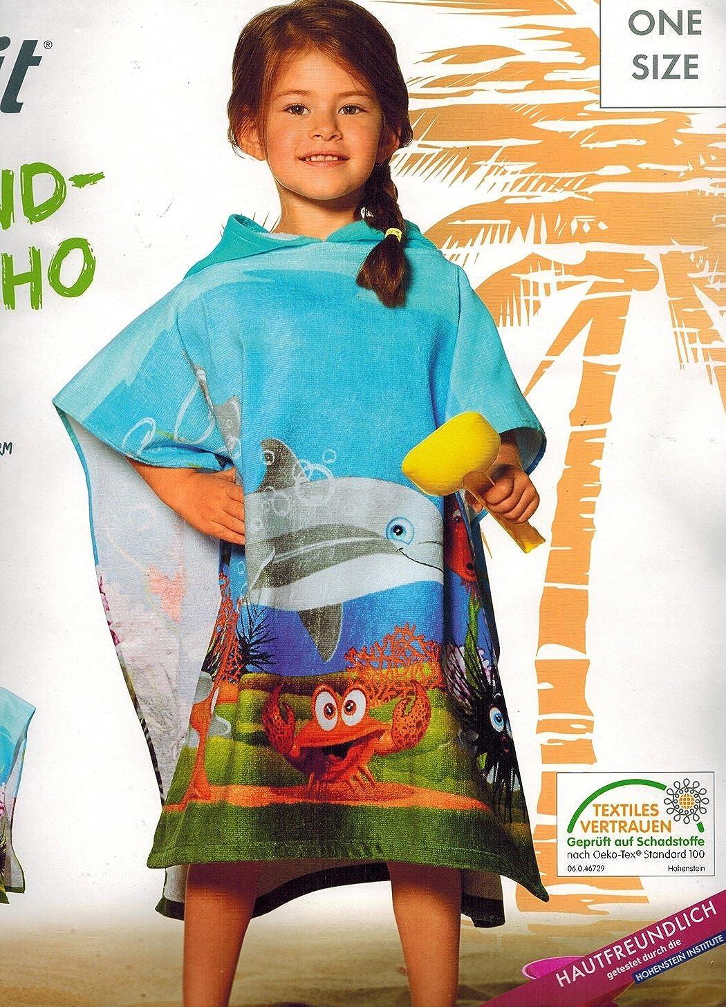 Crivit/® Kinder M/ädchen und Jungen Strandponcho