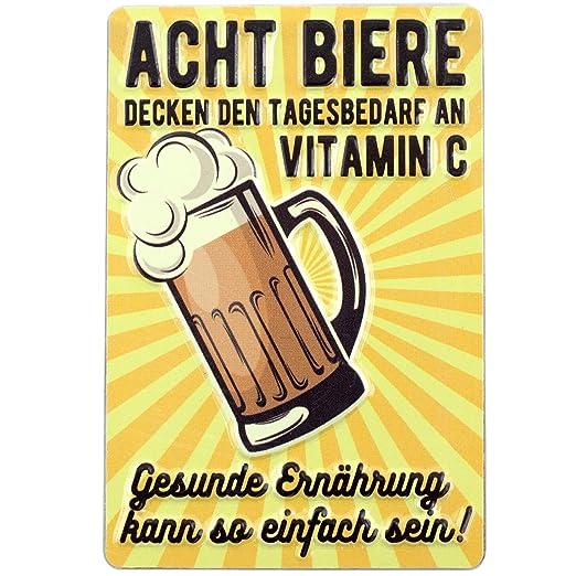 PS&P Ocho Biere al día | de Vitamina C Cerveza | Cartel de ...