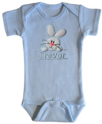 Amazon Funny Girl Designs Embroidered Easter Bunny Onesie