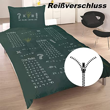 Mathe Kleines 1x1-135 x 200 cm Schlafschule Bettwäsche Schlaf Dich Schlau