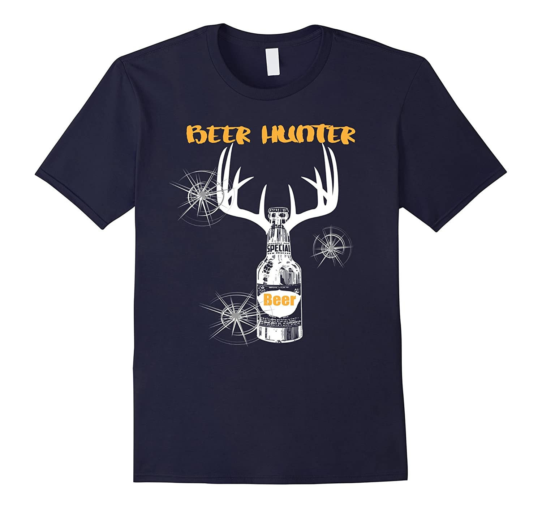 Beer Drinking Tee Shirt Hunting shirt antlers-FL
