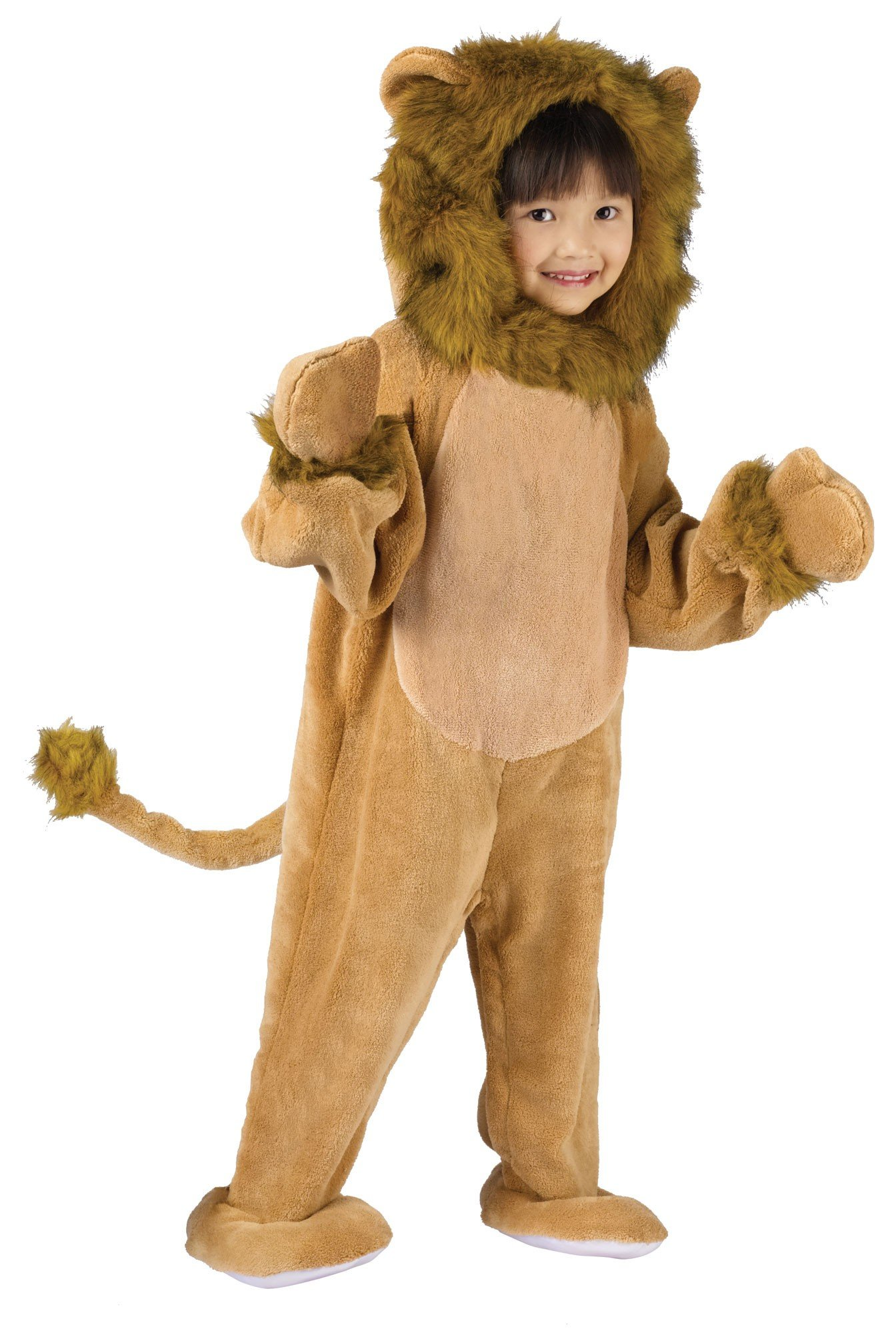 Fun World Costumes Baby's Cuddly Lion Toddler Costume, Tan, Toddler Large 3T-4T