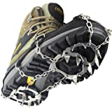 YUEDGE Universal Anti Slip Ice Cleats Shoe Boot Grips Traction Crampon Snow Spikes Grips Cleats