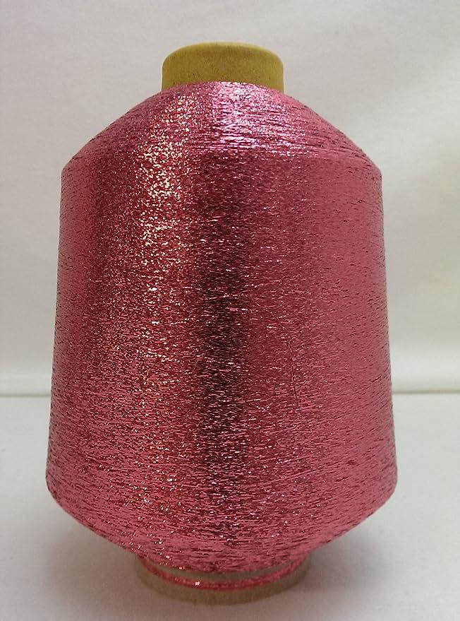 PhiloTeXX 1 Spule Metallgarn GP 42,00 EUR/kg Baby pink 86.000 m/kg Lame Beilaufgarn Glitzergarn 62% Polyester/ 38% Polyamid Ö