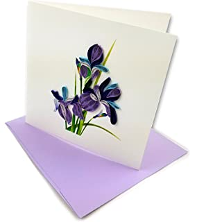 Amazon rainbow congratulations quilling greeting card 6x6 iris quilling greeting card 6x6 with envelope any occasion blank inside m4hsunfo