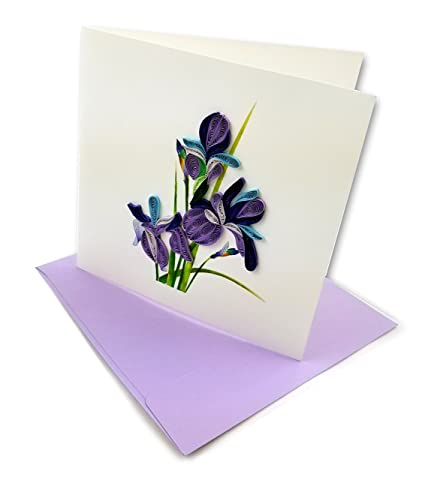 Amazon iris quilling greeting card 6x6 with envelope any iris quilling greeting card 6x6quot with envelope any occasion blank inside m4hsunfo