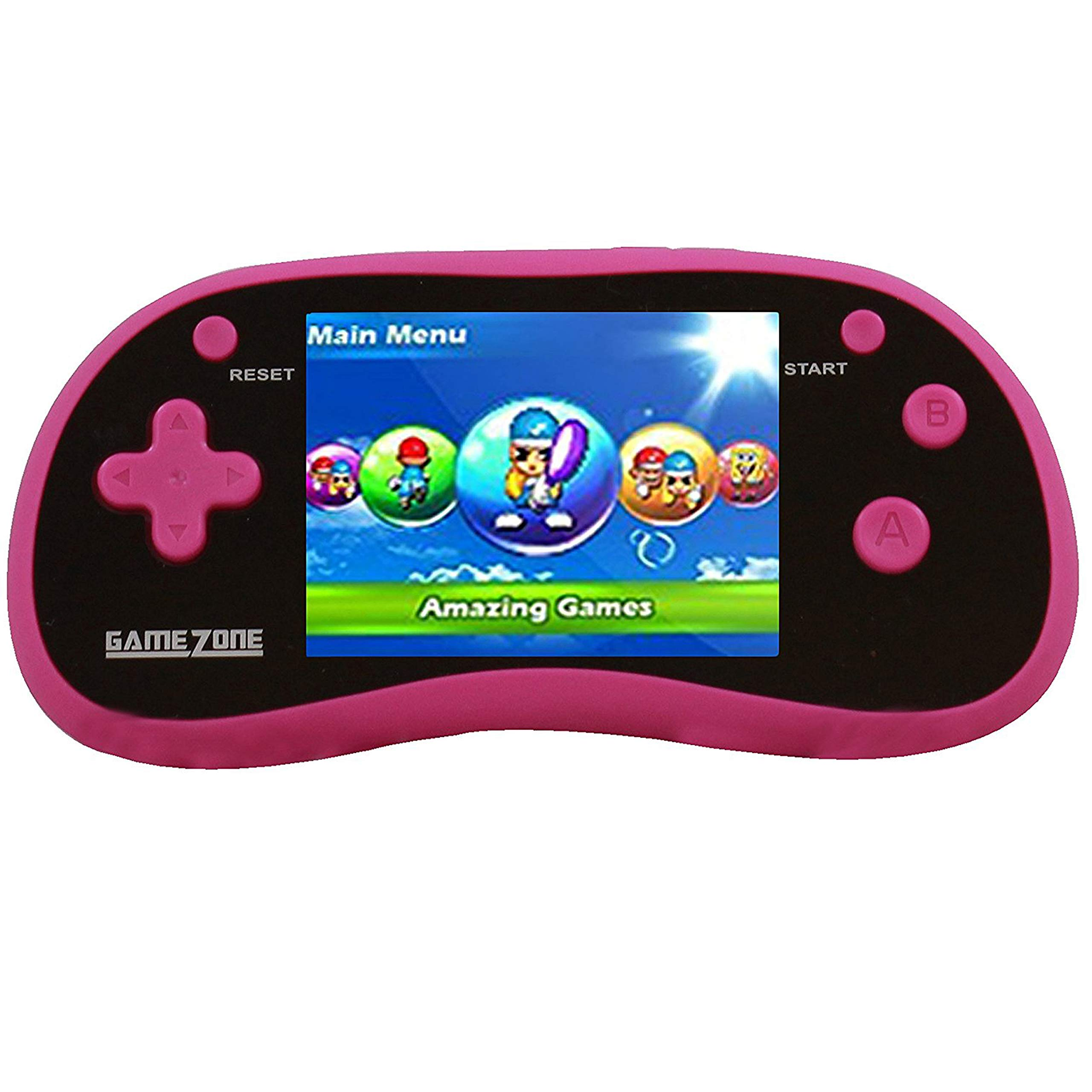 "IQ Toys Handheld Portable Digital Screen 220 Preloaded Games , 3"" Color Display Pink"