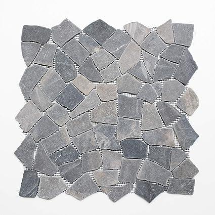 Carrelage mosaïque Verre Carrelage mosaïque marbre gris sol salle de ...