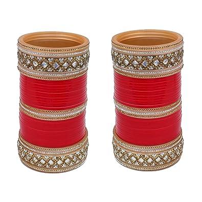 Bridal & Wedding Party Jewelry Red Designer Chura Bridal Dulhan Wedding Punjabi Choora Fashion free Shipping