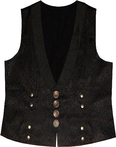 Steampunk Edwardian Victorian Western Brocade Patterned Men/'s Shirt
