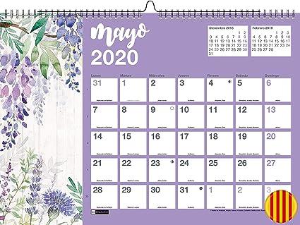 Miquelrius 28354 - Calendario de Pared A3 para escribir Flores 2020 Catalán: Amazon.es: Oficina y papelería