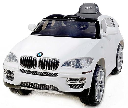 78 opinioni per BMW X6 BIANCA Original licenza, 2x Motore, Batteria 12V, Telecomando,Chiave,
