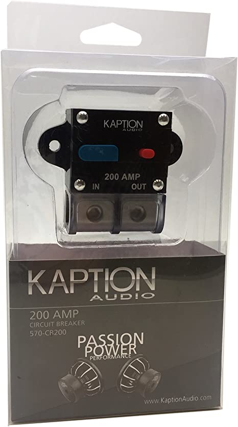 Kaption Audio 0-4 Gauge AWG Power Distribution Block T-Block Car Stereo Truck Audio Marine Boat