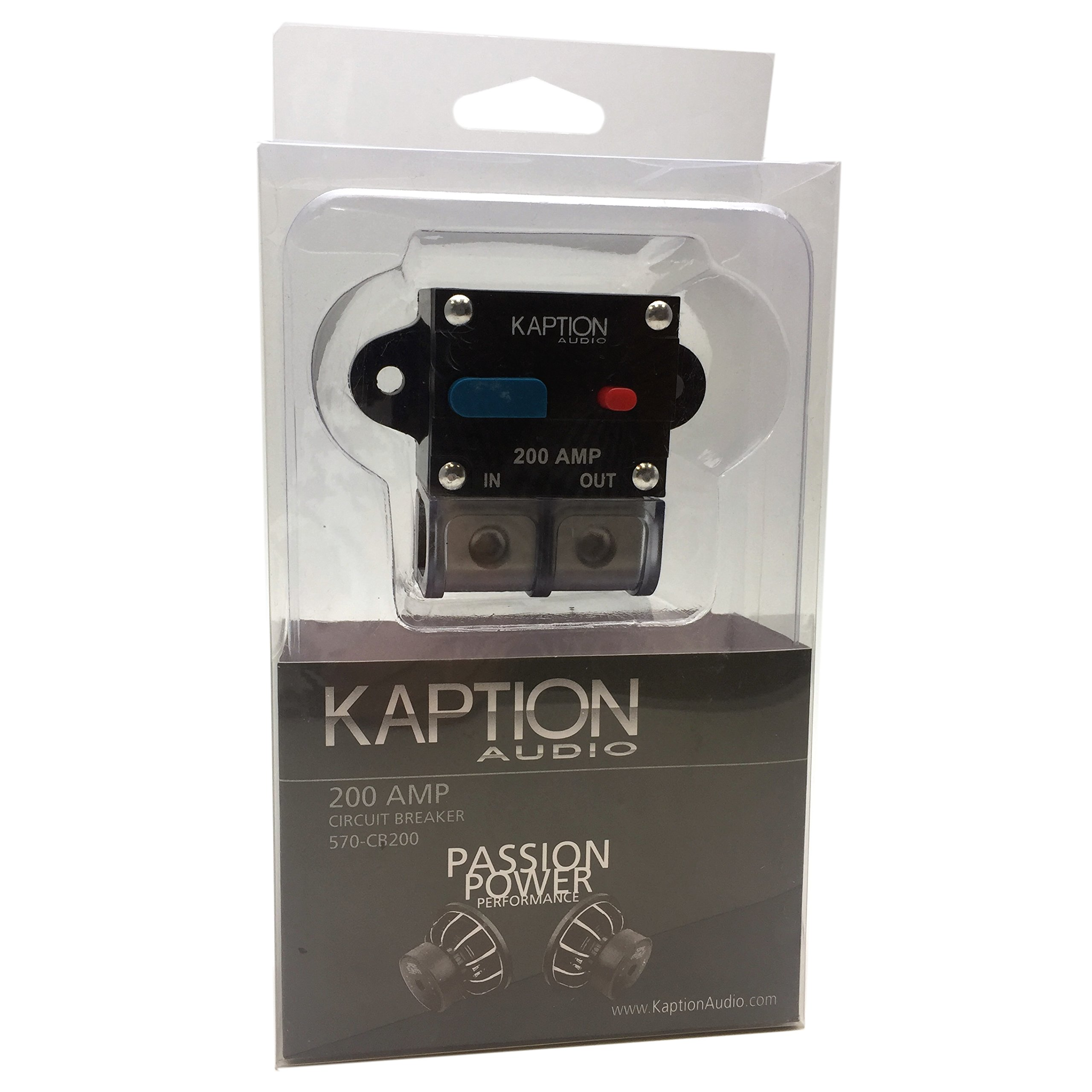 Kaption Audio Circuit Breaker Reset 200 Amp Fuse - 0/4 Ga Gauge AWG - Car Stereo Auto Marine Boat Truck